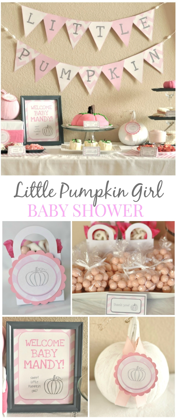 Little Pumpkin Girl Baby Shower Blog