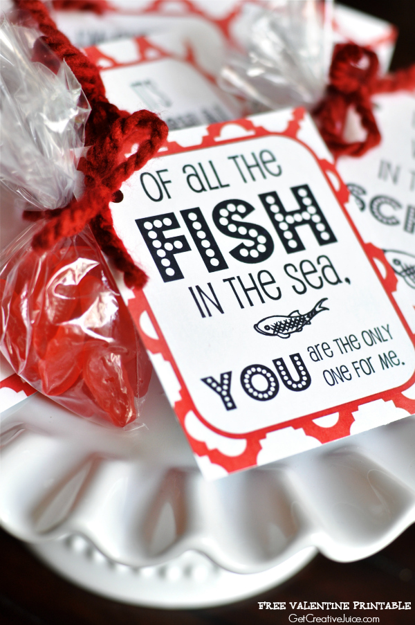 Free Valentine Printable 'Of all the fish in the sea'