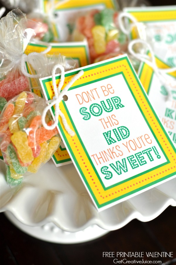 Sour Patch Kids Free Printable Valentine