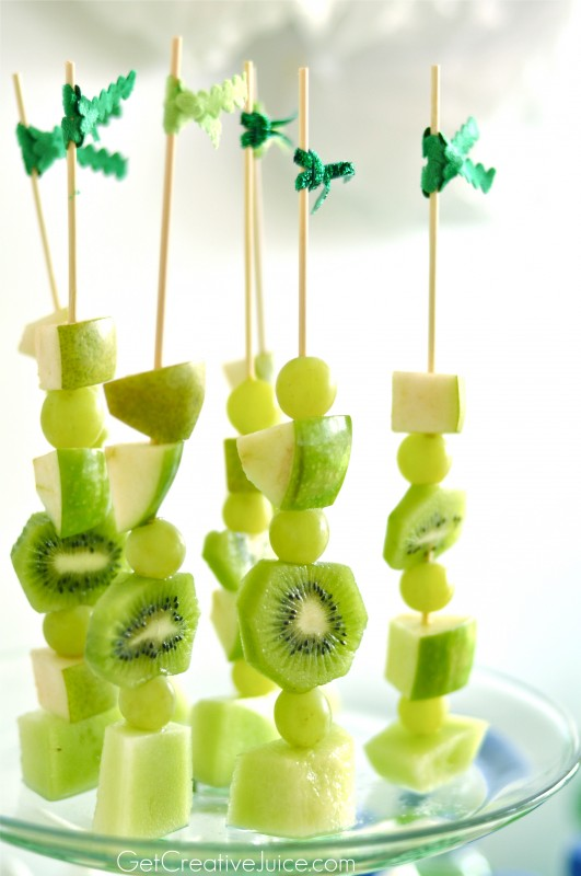 Green Healthy Fruit Skewers