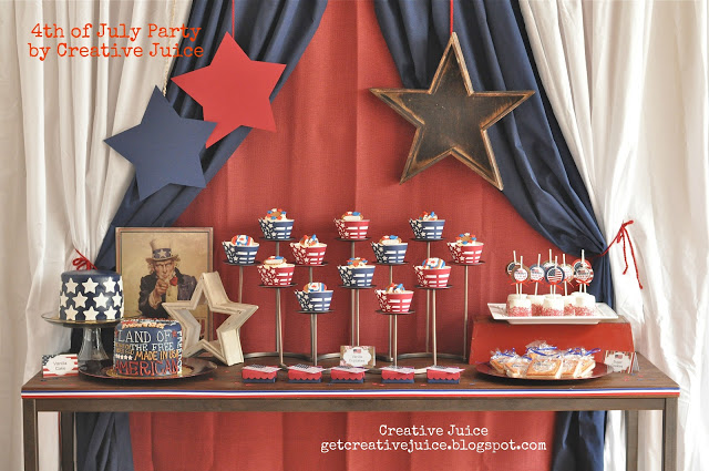 {parties by Creative Juice} 4th of july party