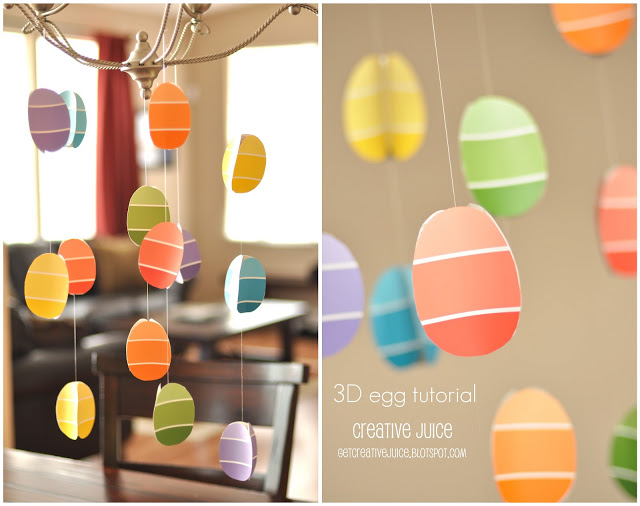 {TUTORIAL} 3D paint chip easter egg garland