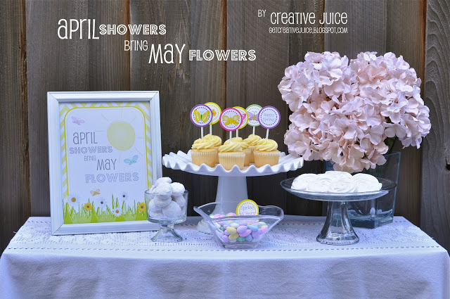 {MINI PARTY} april showers bring may flowers with free printables