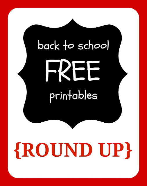 {FREE printables} free back to school printables