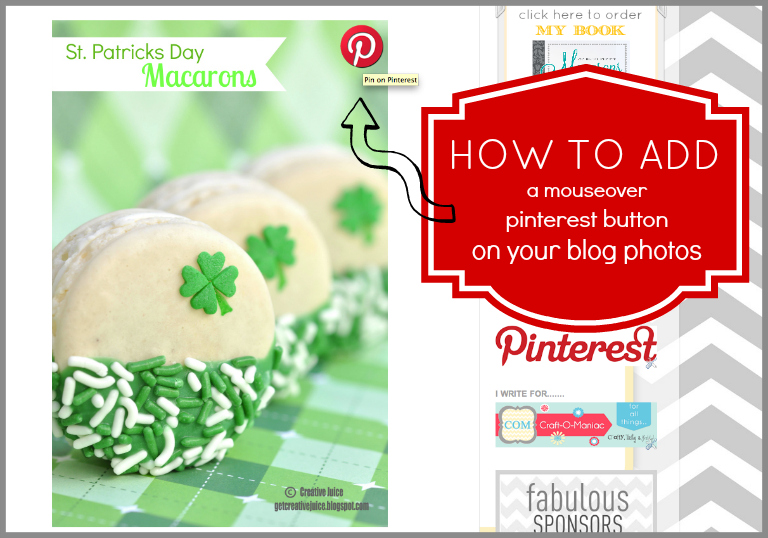 {PINTEREST} how to add a mouseover 'pin it' button to your blog photos!