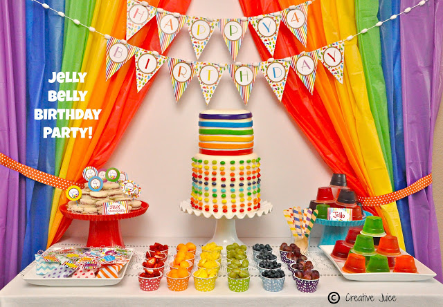 {PARTIES} rainbow jelly bean birthday party