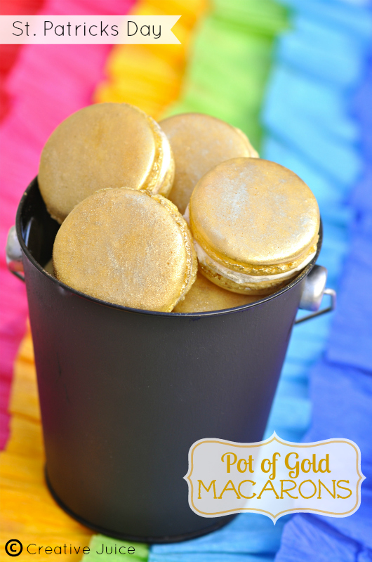 {MACARON} pot of gold at the end of the rainbow