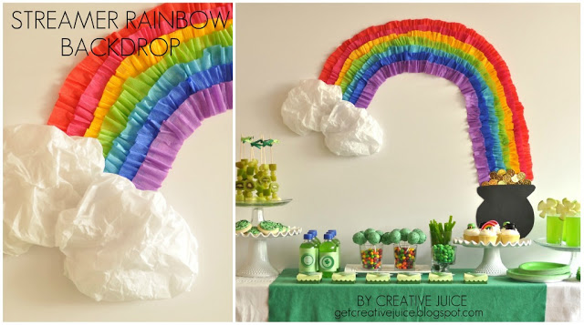 {tutorial} rainbow party streamer backdrop