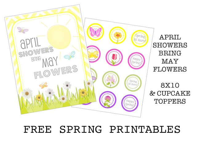 {FREE PRINTABLE} april showers bring may flowers printable