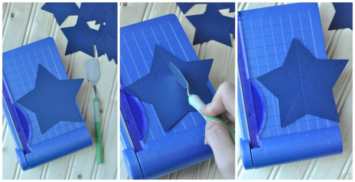 how to make a 3d star garland 2