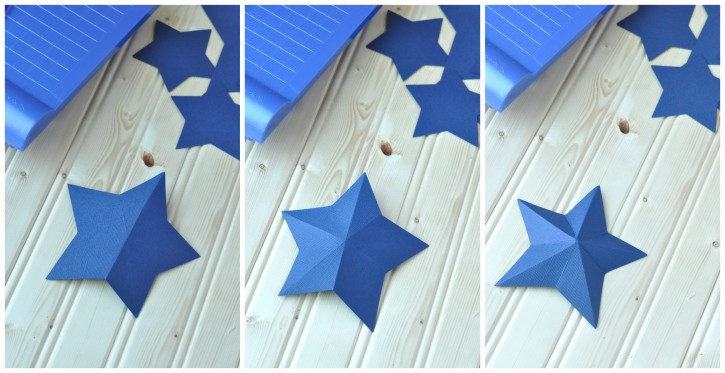 how to make a 3d star garland 3
