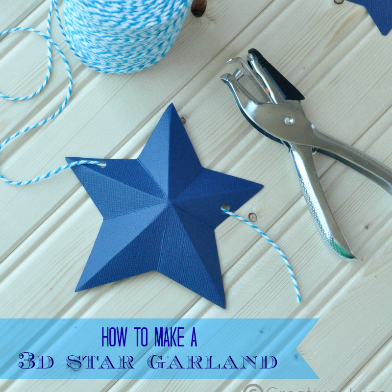 Tutorial 3d star garland creative juice for 3d star decoration