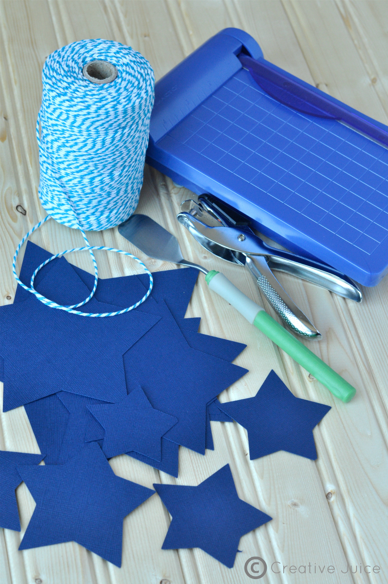 how to make a three dimensional star garland