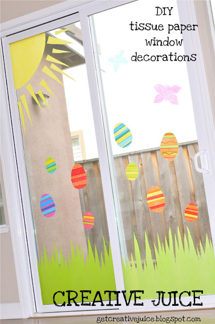 {TUTORIAL} tissue paper window art