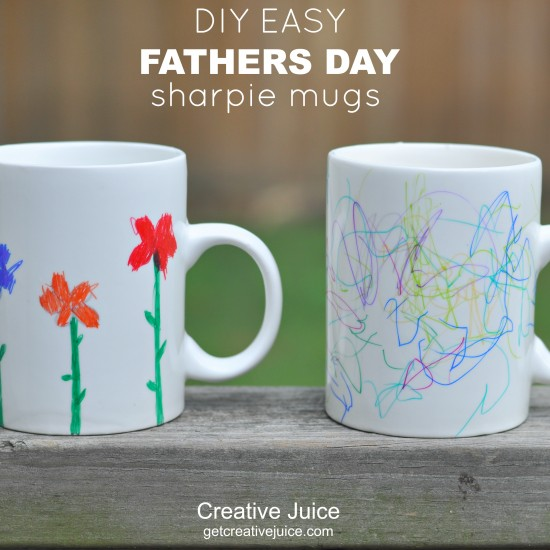 {TUTORIAL} father's day gift idea – sharpie mugs