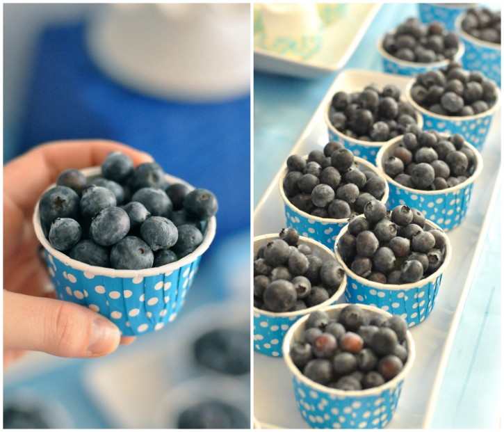 blueberry fruit cups