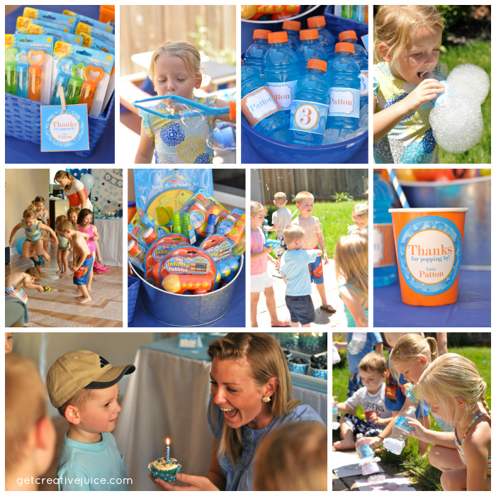 bubble birthday party activities games ideas