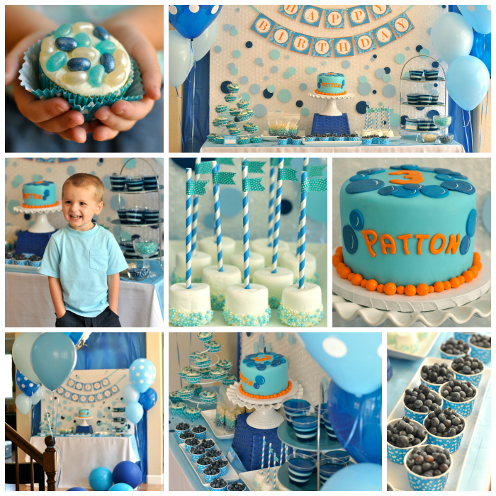 Bubble Birthday Party Collage