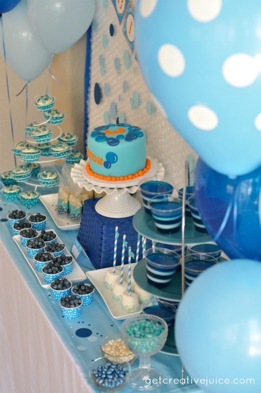 Blue Party Decorating Ideas bubble birthday party - creative juice