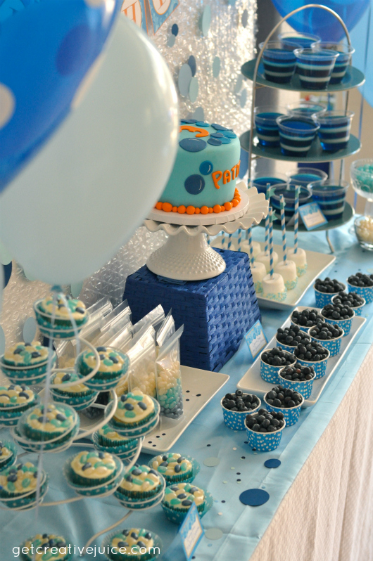 Bubble Birthday Party Decorations Dessert Table