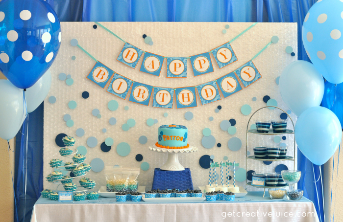 Bubble birthday party creative juice for 1 birthday decoration ideas