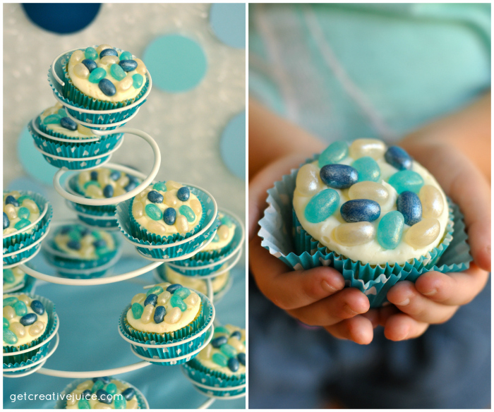 bubble birthday party ideas cupcakes