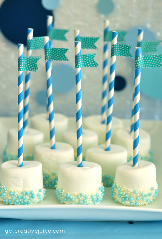 bubble birthday party ideas dipped marshmallows
