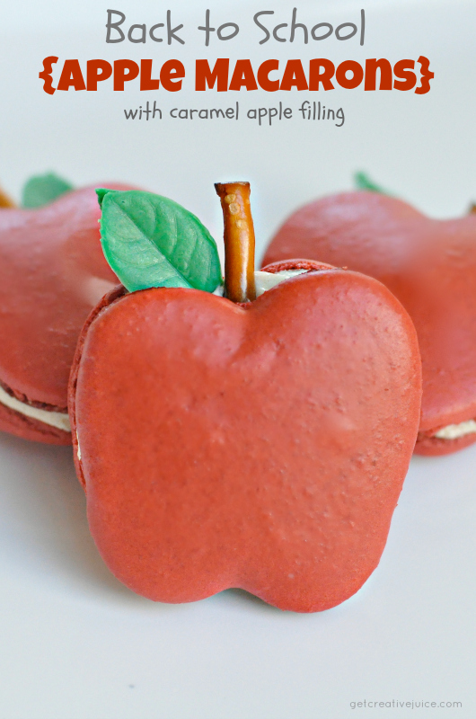 apple french macarons