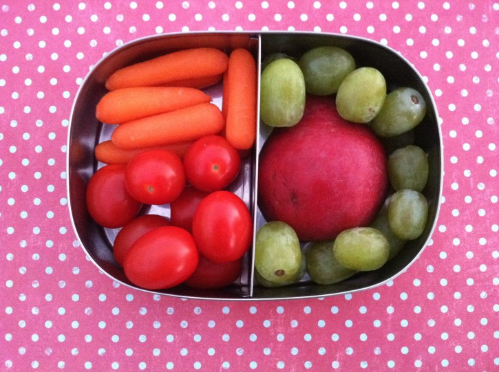 fruit and vegtable bento box idea
