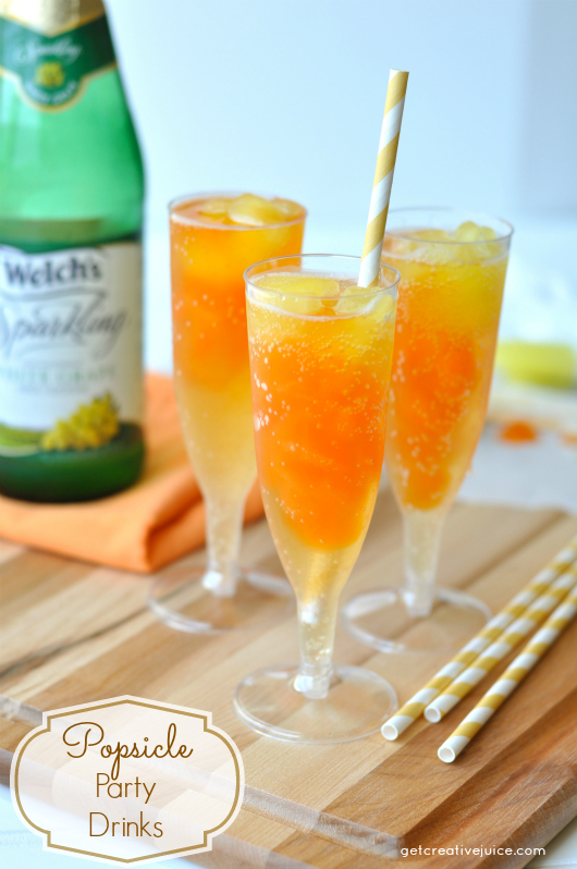 Popsicle flavored party drinks recipe and tutorial for Summer drinks for party