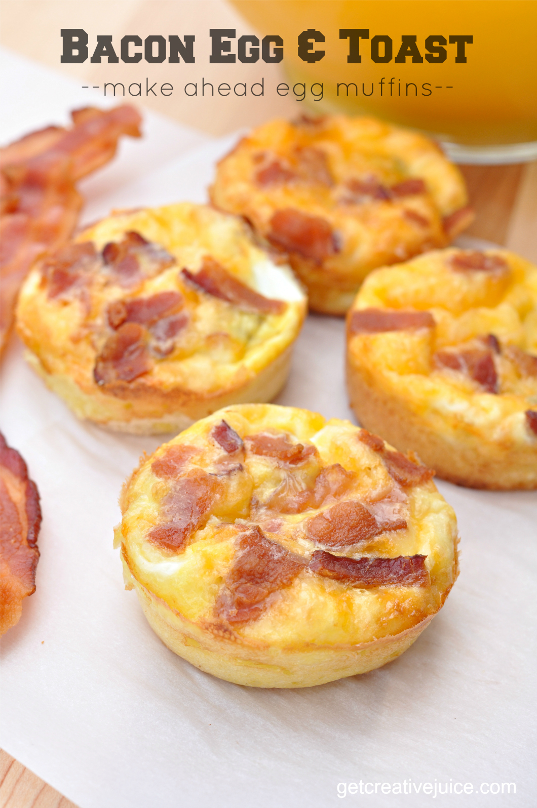 Healthy Breakfasts With Eggs And Bacon Breakfast Muffins Egg Bacon