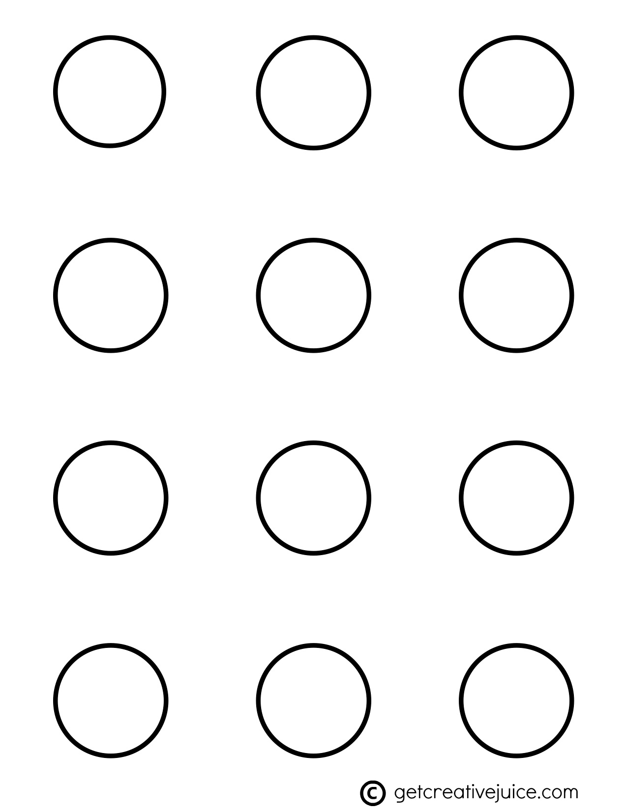 macarons  basic printable template