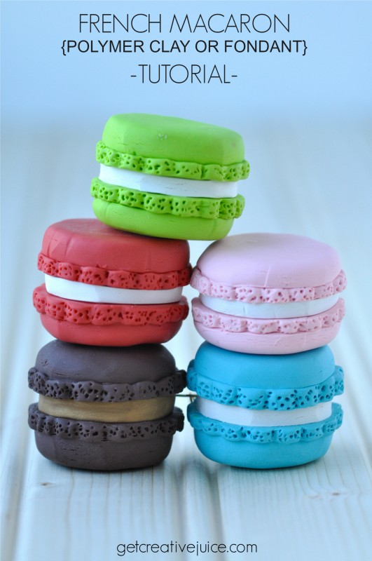 French macaron polymer clay or fondant tutorial