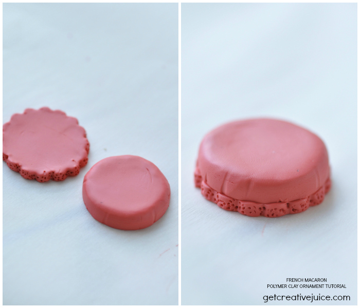 Polymer Clay French Macaron Ornament Tutorial by GetCreativeJuice.com