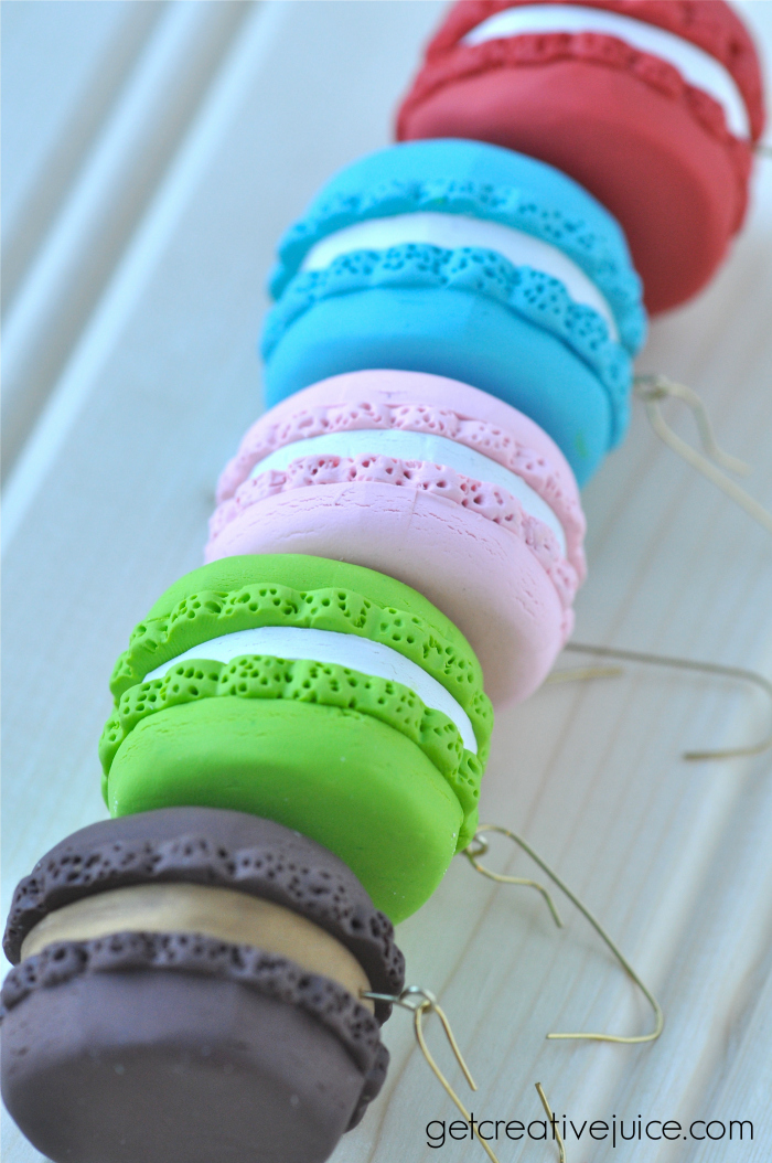 French Macaron Clay Ornaments