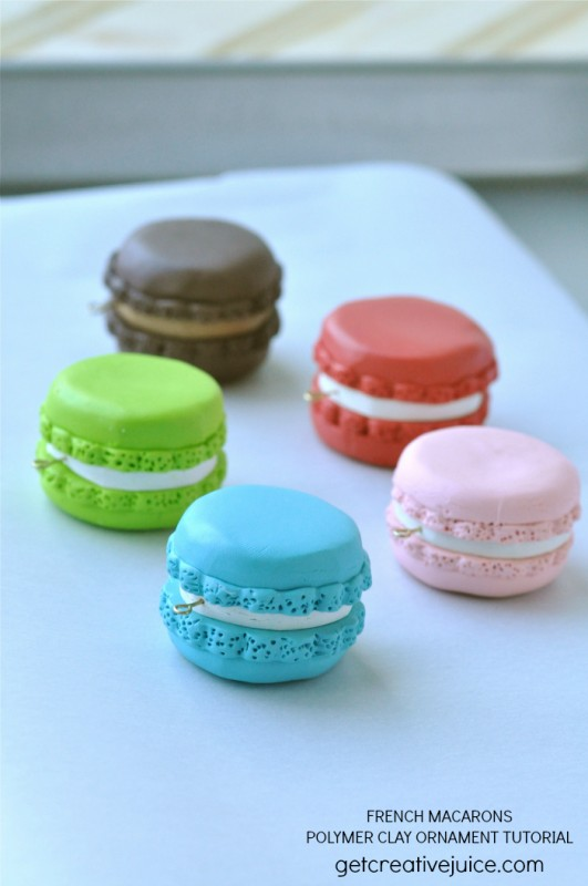 french macaron polymer clay ornament tutorial