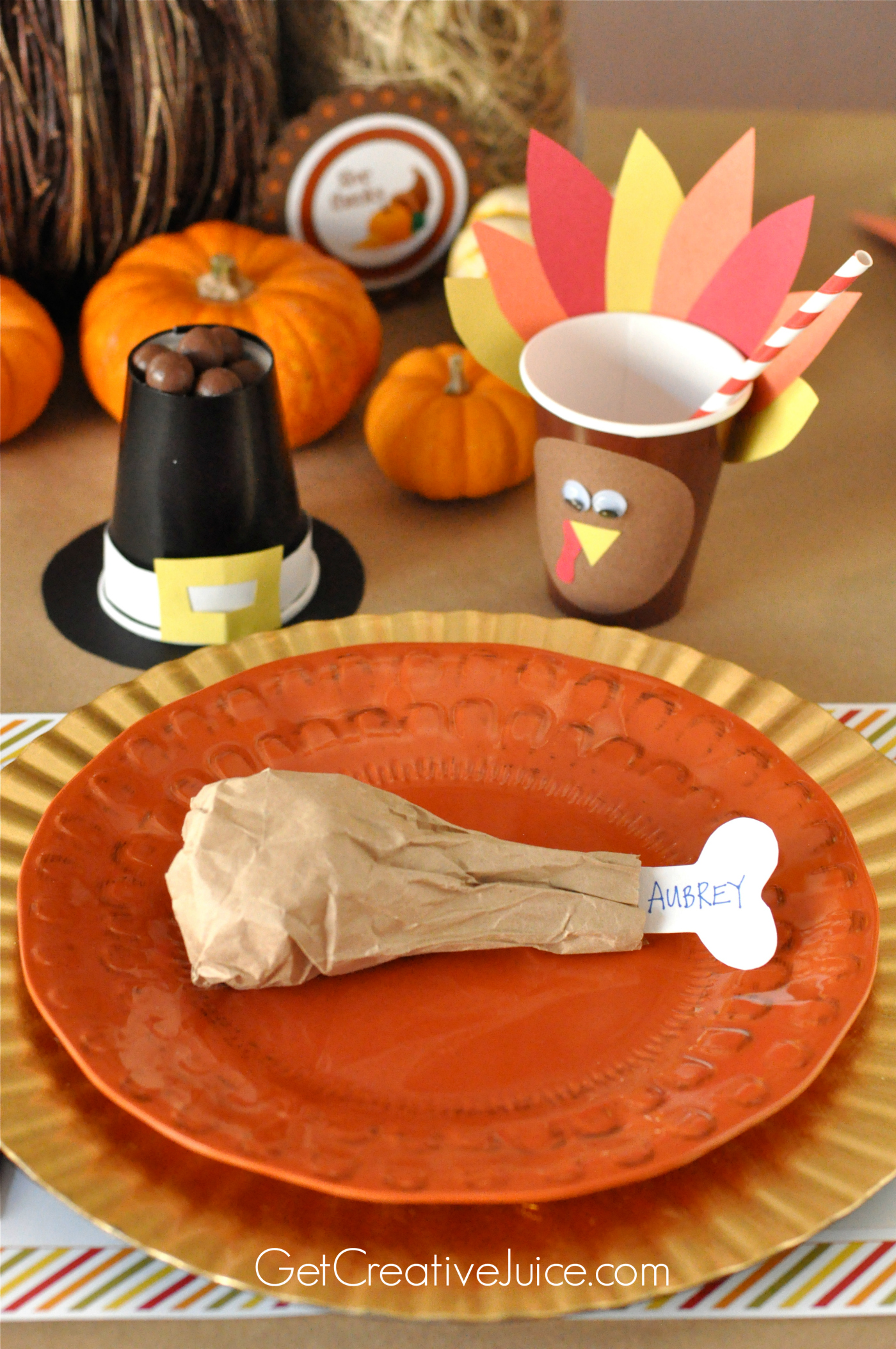 Easy diy kids thanksgiving table ideas creative juice Thanksgiving table decorations homemade