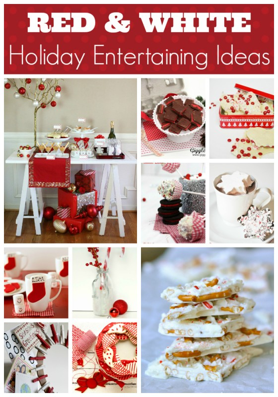 Red & White holiday entertaining ideas