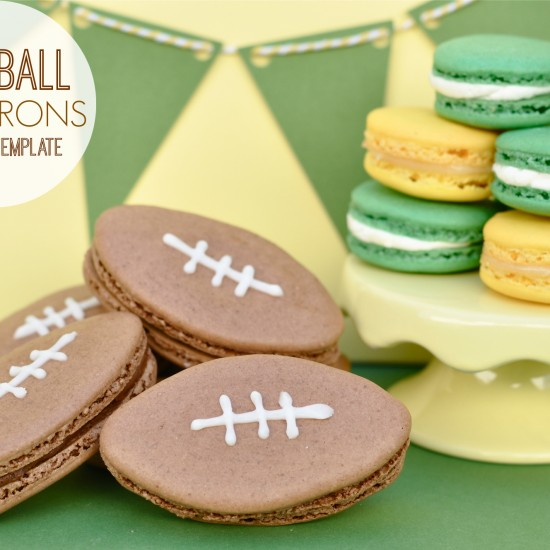 Football Macarons – Snickers