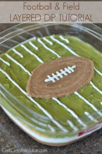 Football and Field Layered Dip Tutorial for your superbowl party!