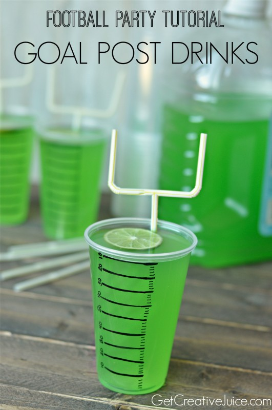 Football party drinks with goal post straws - Tutorial