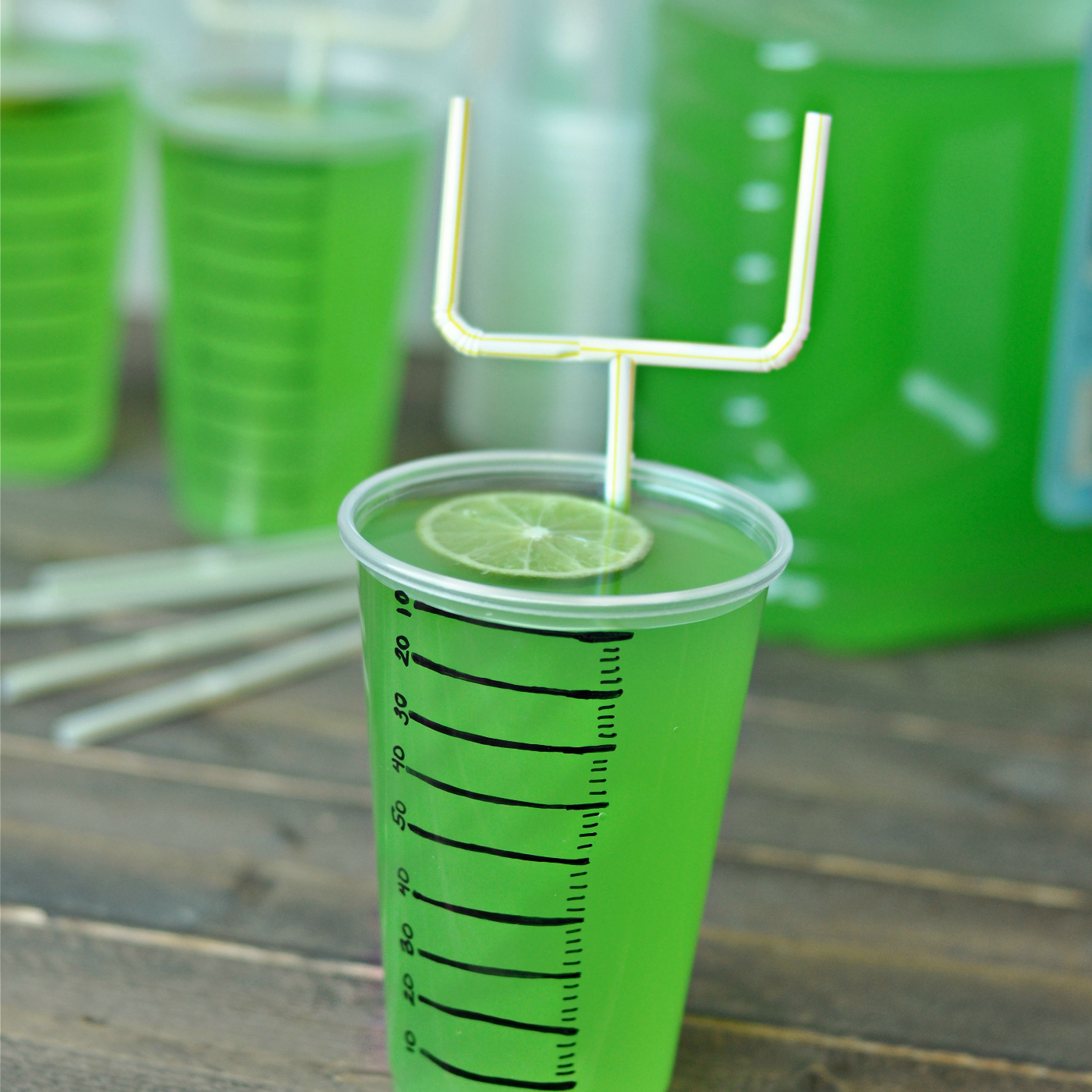 super bowl or football party drinks goal post straws creative juice