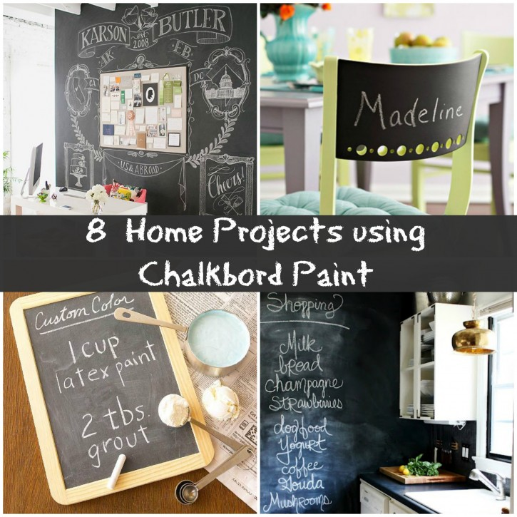 8 creative chalkboard project ideas for your home for Unique chalkboard ideas