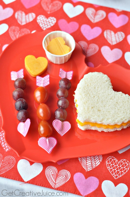 Fun Lunch and Snack Ideas for kids on Valentine's Day