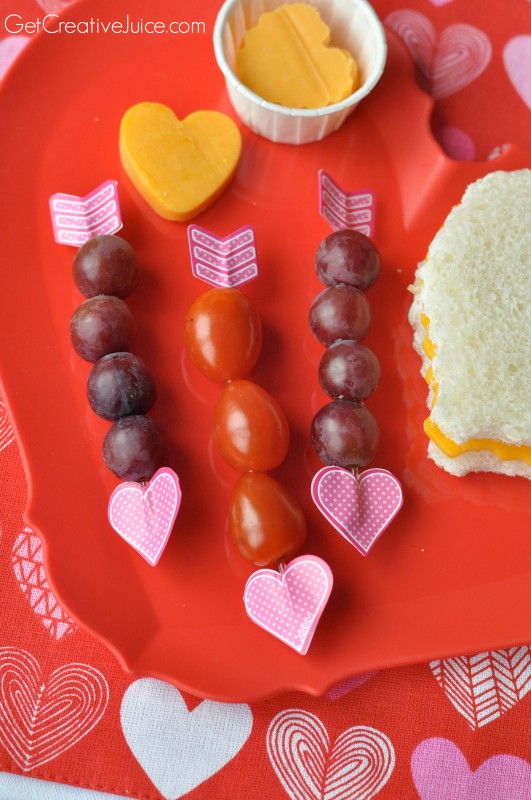 Ideas for Valentine's Day lunches and snacks