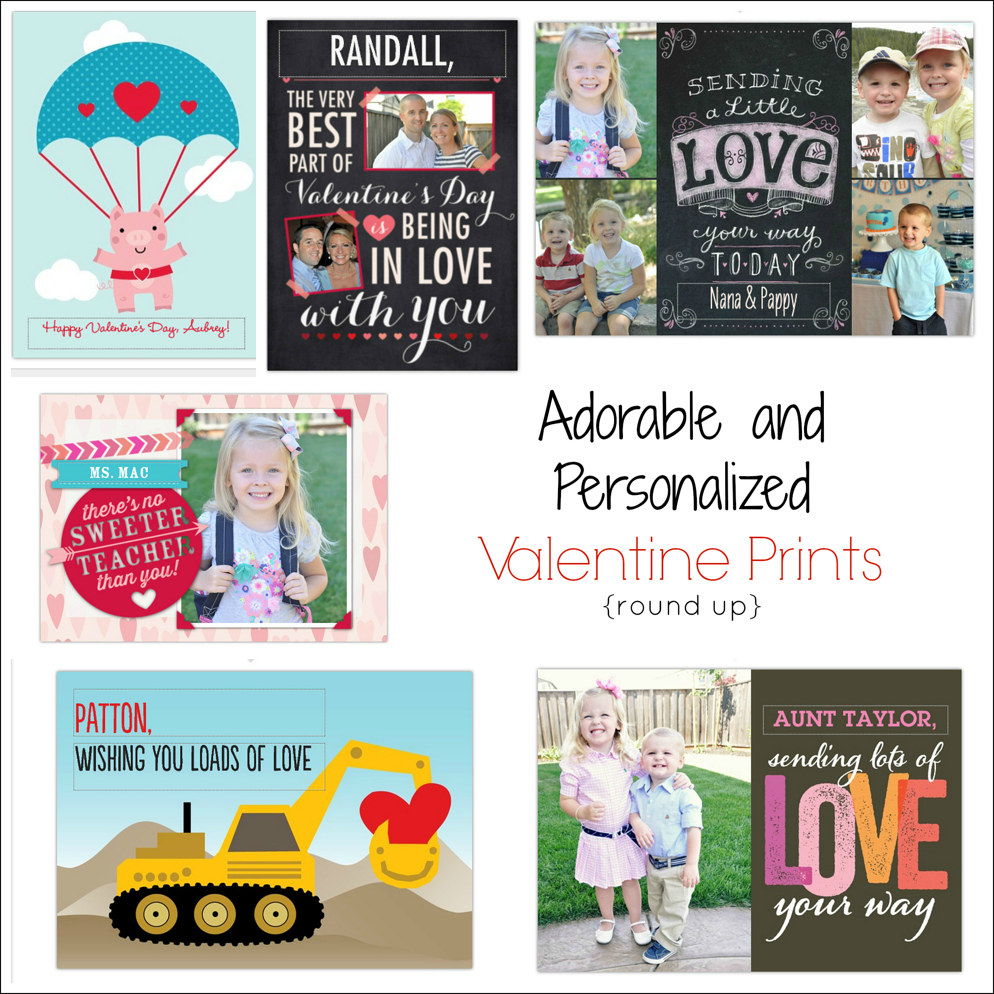 Personalized Valentine Prints for your Loved Ones Creative Juice – Valentines Cards Personalized