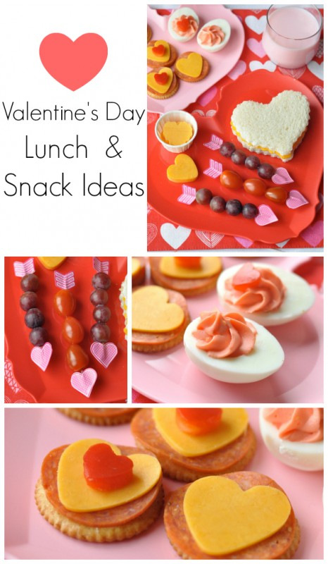 Valentine Snack ideas collage