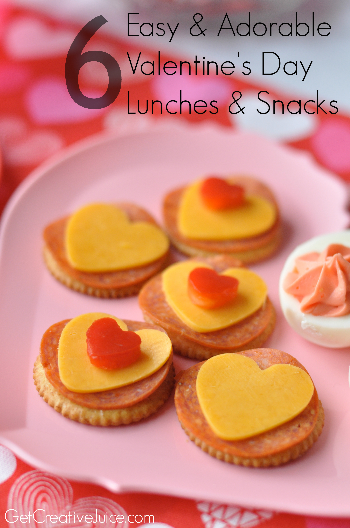valentines day lunches and snacks for kids