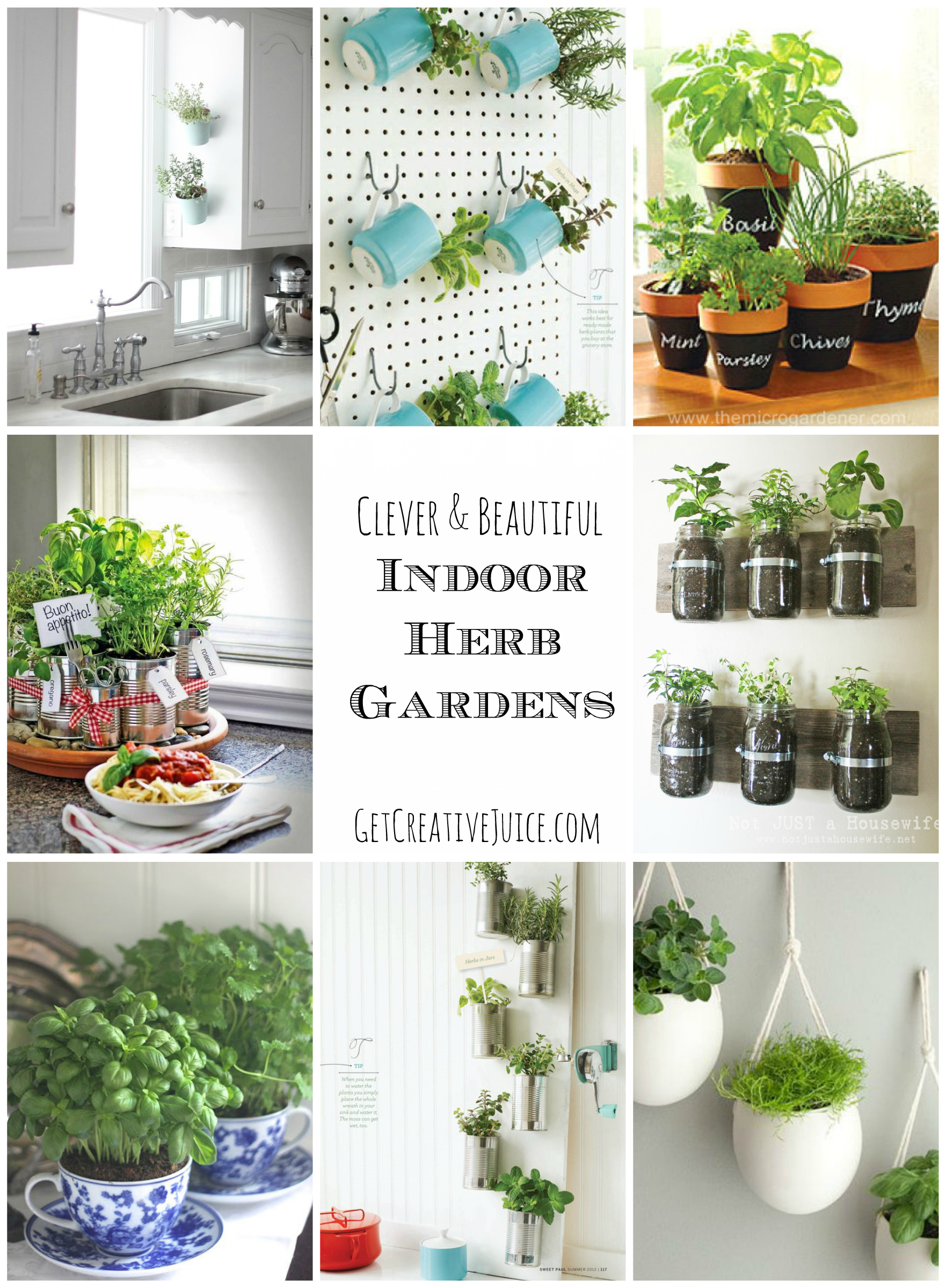 Indoor herb garden ideas creative juice for Kitchen herb garden