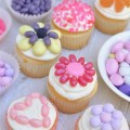 Jelly Belly Candy Flower Cupcakes